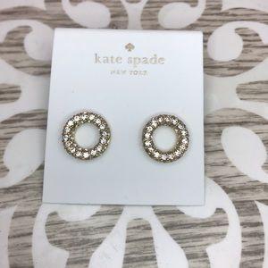 Kate Spade NY Round Crystal Earrings - NWT